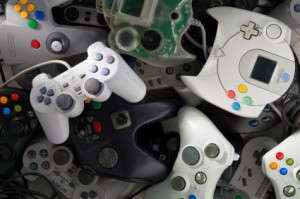 Scattered Gamepads of Many Brands