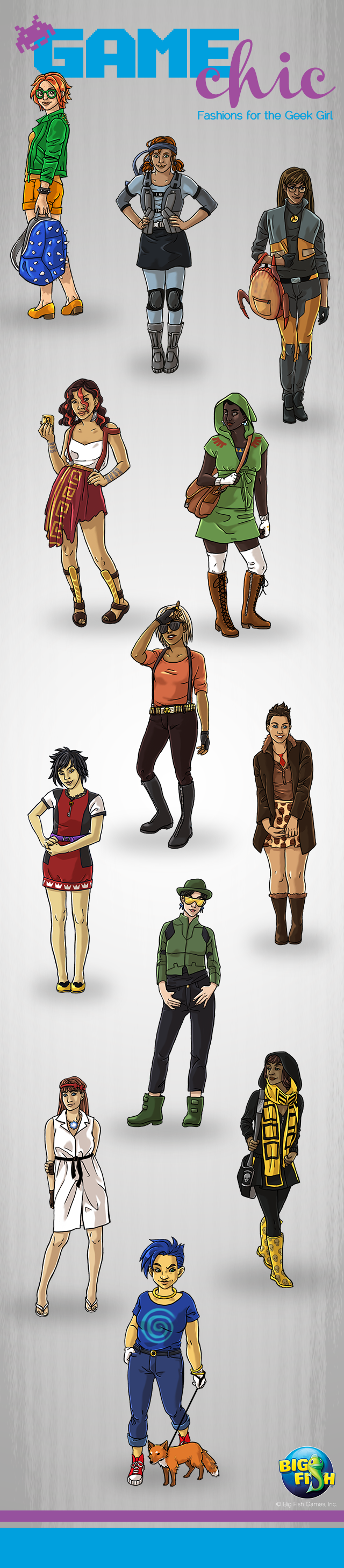 Big fish games 39 video game character designs geekgirlcon for Big fish characters