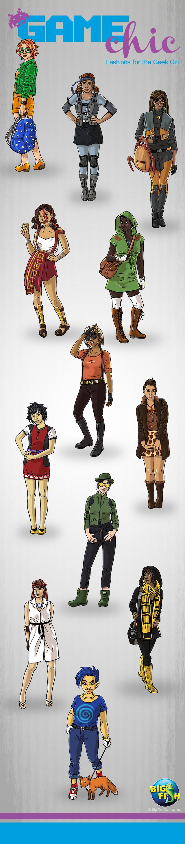 Big Fish Games' Video Game Character Designs | GeekGirlCon