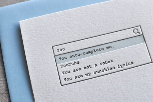 Geeky Letterpress Cards