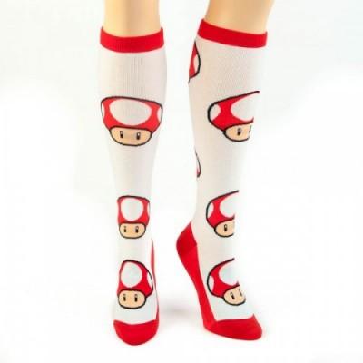 Mario Mushroom Socks front