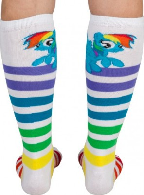 Rainbow Dash Socks Detail