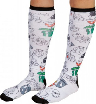 Nintendo Bad Guy Socks