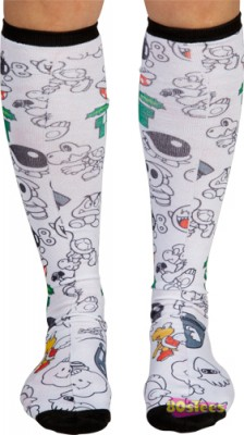 Nintendo Bad Guy Socks detail
