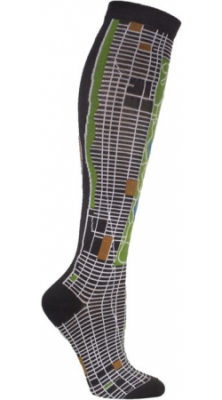 New York City Map Socks Side