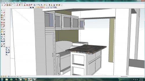 SketchUp Kitchen Model with Island