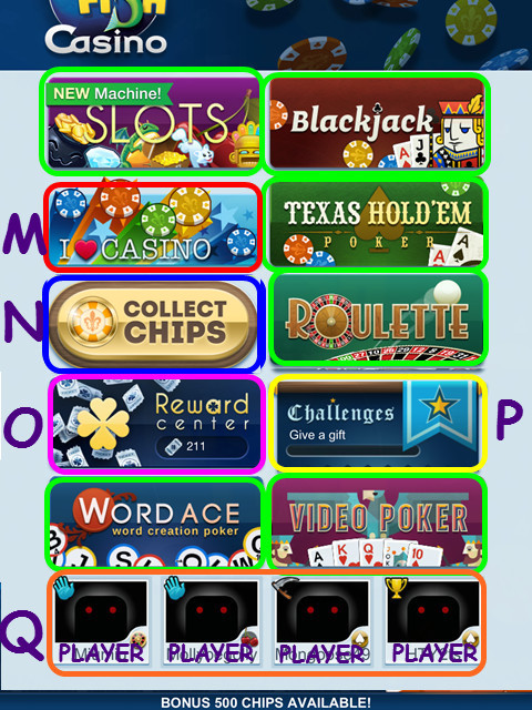 Big fish casino icon meanings