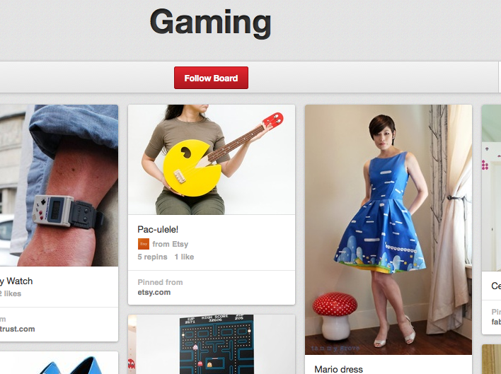 Pinterest for Gamers
