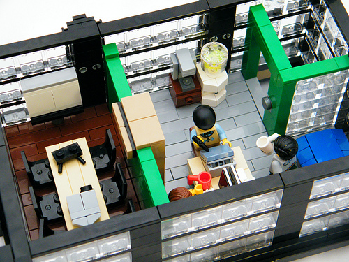 Game development office Legos