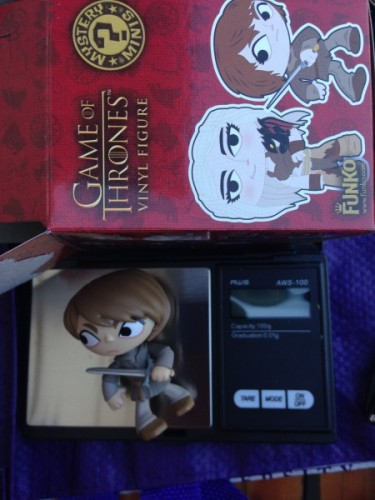 Weighing Game of Thrones blind boxes